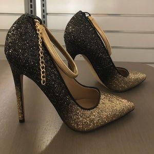 SHOE DAZZLE Women's Heels in Ombré Glitter